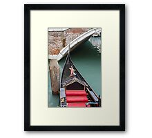 gondola in Venice Framed Print