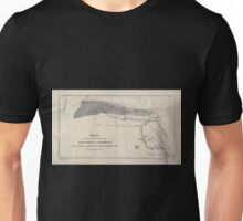 0126 Railroad Maps Map showing the connection of the coal-field of Allegany with the canal and rail-road improvements of the Unisex T-Shirt