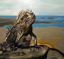 Marine Iguana by Adam Berardi