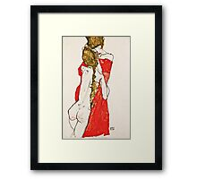 Egon Schiele - Mother and Daughter (1913)  Framed Print