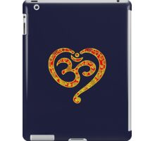 OM Heart, Mantra, Symbol Love & Spirituality, Yoga iPad Case/Skin
