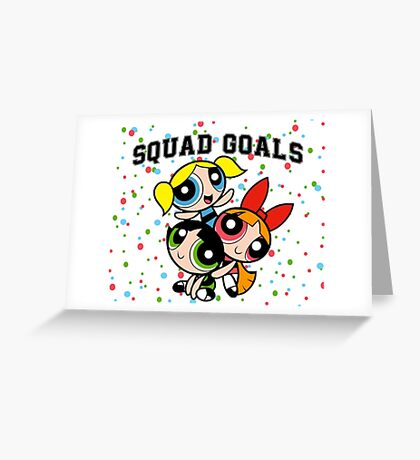 Powerpuff Squad Greeting Card