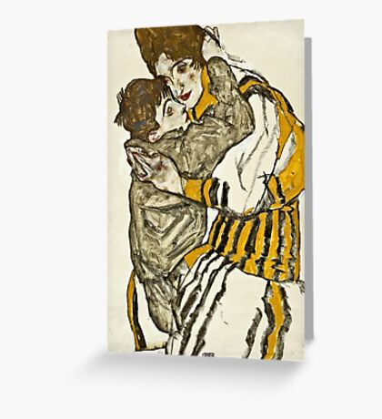 Egon Schiele - Schieles Wife with Her Little Nephew (1915)  Greeting Card