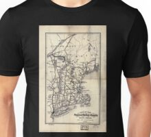 0392 Railroad Maps Map of the Stanstead Shefford and Chambly Rail Road and its Unisex T-Shirt