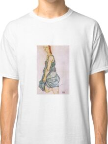 Egon Schiele - Upright Standing Woman 1912 Classic T-Shirt