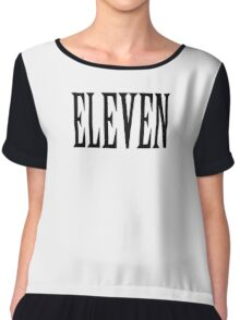11, Eleven, Eleventh, TEAM SPORTS NUMBER, Competition, BLACK Chiffon Top