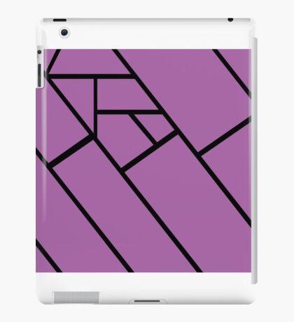 Lilac Lines Black iPad Case/Skin