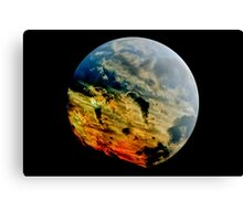 Stormy planet Canvas Print