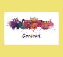Cordoba skyline in watercolor One Piece - Short Sleeve