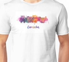 Cordoba skyline in watercolor Unisex T-Shirt