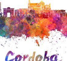 Cordoba skyline in watercolor Sticker