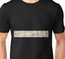 0210 Railroad Maps Plan of a survey for the proposed Boston and Providence Unisex T-Shirt