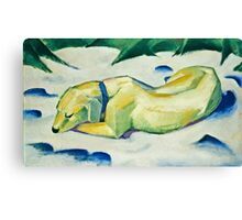 Franz Marc - Dog Lying in the Snow (1911)  Canvas Print