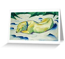 Franz Marc - Dog Lying in the Snow (1911)  Greeting Card