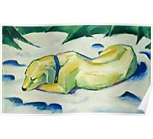 Franz Marc - Dog Lying in the Snow (1911)  Poster