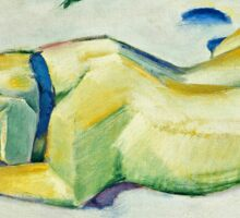 Franz Marc - Dog Lying in the Snow (1911)  Sticker