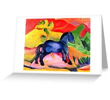 Franz Marc - Little Blue Horse  Greeting Card