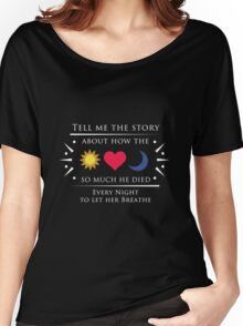 The Sun and the Moon - White ( Dark background) Women's Relaxed Fit T-Shirt