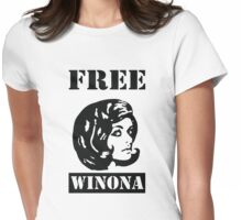 Winona Ryder - Free Winona Womens Fitted T-Shirt