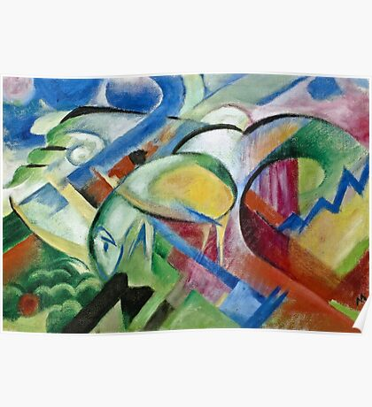 Franz Marc - The Sheep 1913 - 1914  Poster