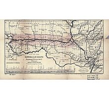 0276 Railroad Maps Map of the Hannibal St Joseph Railroad and its connections published by the American Railway Review New Photographic Print