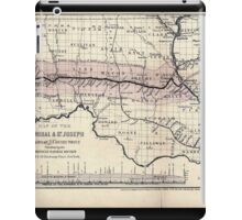 0276 Railroad Maps Map of the Hannibal St Joseph Railroad and its connections published by the American Railway Review New iPad Case/Skin