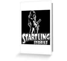 Science Fiction Startling Stories Magazine Greeting Card