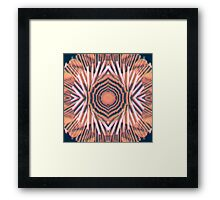 Stairs Round Framed Print