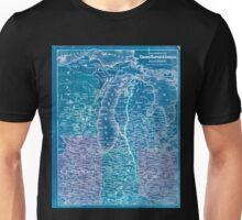 0270 Railroad Maps Map showing the Grand Rapids Indiana Railroad and its Inverted Unisex T-Shirt