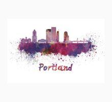 Portland V2 skyline in watercolor Baby Tee