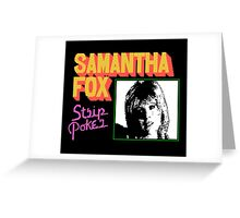 SAMANTHA FOX STRIP POKER - MSX Greeting Card