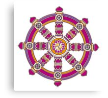 Dharma Wheel of Fortune, Buddhism,  Canvas Print
