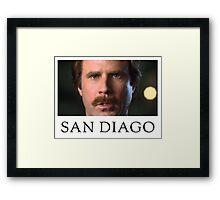 Ron Burgundy Represents San Diego Framed Print