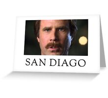 Ron Burgundy Represents San Diego Greeting Card