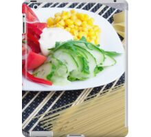 Closeup view of a vegetarian dish of raw vegetables iPad Case/Skin