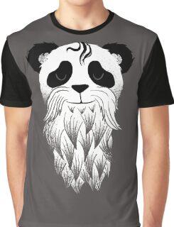 Panda Beard Graphic T-Shirt
