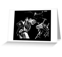 Soundwave and minions Greeting Card