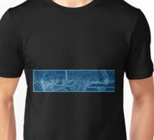 0358 Railroad Maps Map of the Philadelphia Wilmington Baltimore Railroad shewing sic its Inverted Unisex T-Shirt