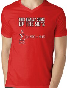 Math Equation: This really sums up the 90's Mens V-Neck T-Shirt