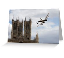 Lancaster City Of Lincoln  Greeting Card