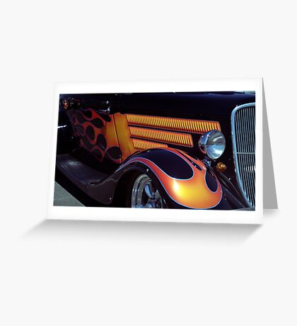 Flaming Suicide Doors Greeting Card