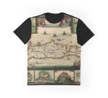 Map Of Crete 1670 Graphic T-Shirt