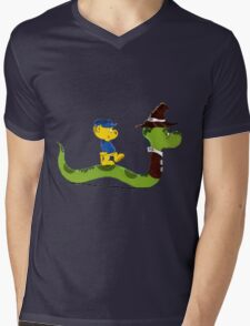 Ferald and Mr.Wiggly Mens V-Neck T-Shirt