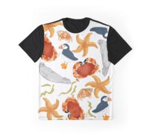 Coastal Wildlife (white background) Graphic T-Shirt