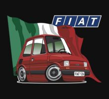 Fiat 126 caricature red T-Shirt