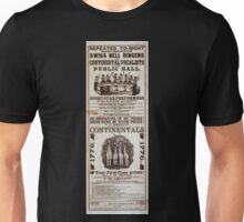 Performing Arts Posters Repeated to night grand combination Swiss bell ringers and Continental Vocalists at the public hall 0520 Unisex T-Shirt