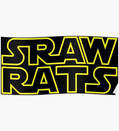 Star Wars Straw Rats Poster