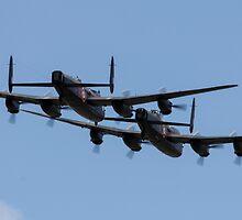 2 Lancasters  by J Biggadike