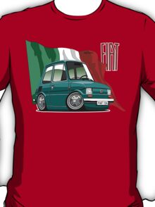 Fiat 126 caricature turquoise T-Shirt