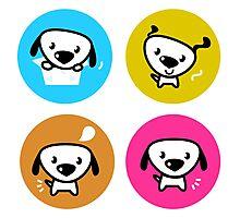 Dog icons collection. Original art and illustration Photographic Print